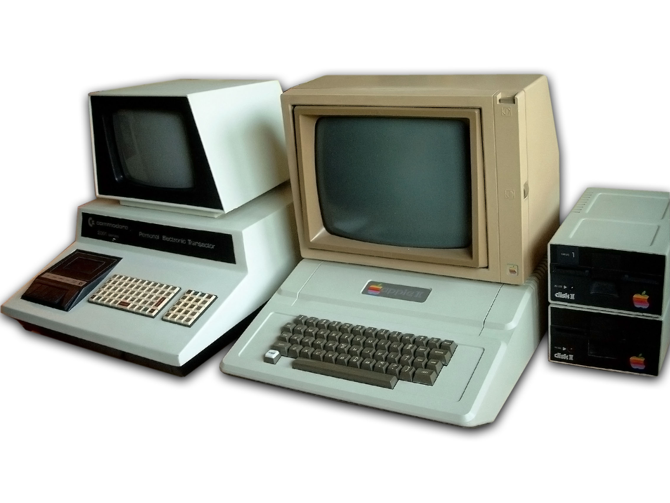 Comparison HP 9845 vs. Apple II and Commodore PET 2001