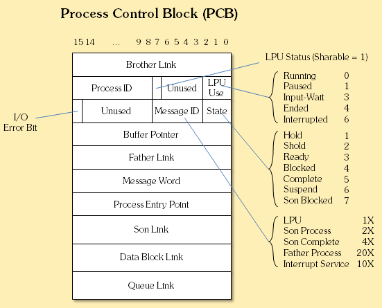 What are the typical elements of a process image ...